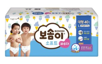 BOSOMI Soft Power Diapers Large 1 Box(4Pack)