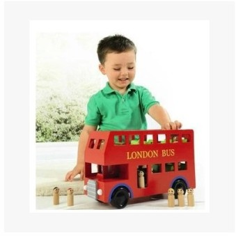 Car Model transport large bus educational toys bus car