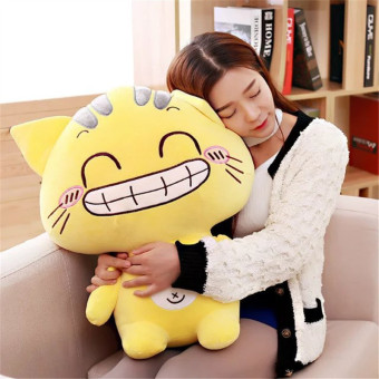 CC sweet cat big cat face cat cute plush toys