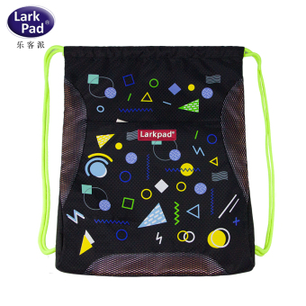 Children's tuition drawstring closure lightweight folding nylon tote bag