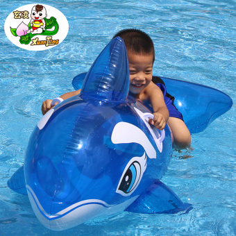 Children's Xuan Ling Water Inflatable dolphin Horse Toys Floating Ring