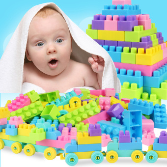 Children's large particles plastic assembling building blocks earlychildhood educational assembled fight inserted building blocks 3-6year old building blocks toys