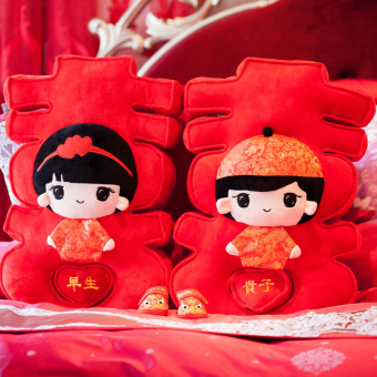 Harga Couple wedding room doll plush toys wedding gift Ornaments