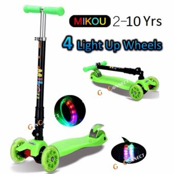 CRAZY SALE!! 4 wheels Kids Scooter GREEN(GREEN)