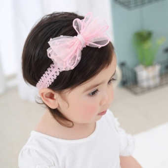 Cute Newborn Baby Girls Headband Bowknot Girls Headwear Headdress - intl - 4
