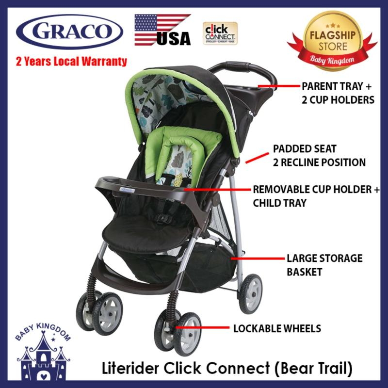 Graco Literider Click Connect Stroller (Bear Trail) - Local Warranty Singapore