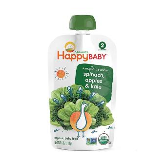 Harga Happy Baby Stage 2 - Apple, Spinach and Kale (113g X 1pouch)