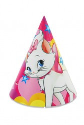 Helloparty birthday holiday party supplies; Party party hat Mary Cat 6 people cone cap