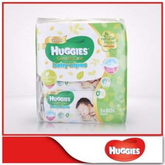 Huggies Baby Wipes Gentle Care 80sx3 1pack Lazada Singapore