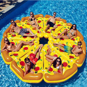 I PVC inflatable pizza floating row