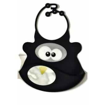 Harga Panda Silicone with Catcher Bib (Black)