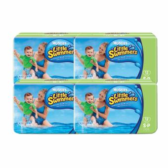Harga Huggies Disposable Swimpants Little Swimmers S 12's x 4