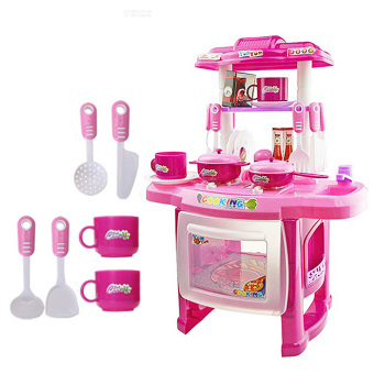 2015 NEW Beauty Kitchen Cooking Toy Play set for Children and parents(Pink)