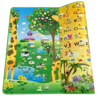 Harga BAYM Large Baby Kid Toddler Crawl Play Game Letter Alphabet Mat PlayMat Gym Tiles for In/Out Doors Non-toxic Non-slip Reversible Waterproof 180 x 200 x 0.5cm 70.9 x 78.7 x 0.2 Inches Giraffe - intl