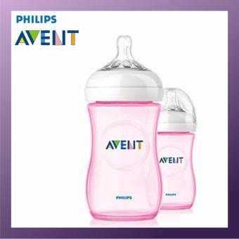 Harga PHILIPS AVENT Natural Bottle 260ml Twin Pack Pink