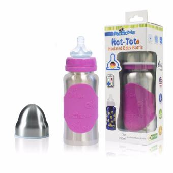 Harga Pacific Baby Hot-Tot Insulated Baby Bottle, 7oz(Silver Pink)