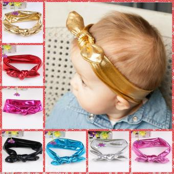 7pcs Baby Girls Bow Knot Floral Headband Hairband Bright Color Head Wrap Hair Band Accessories - intl