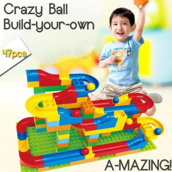 Harga Crazy Happy Ball Building Blocks with Slide (Educational Toy) 72pcs