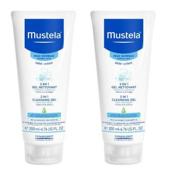 Harga [Twin-pack] Mustela 2 In 1 Hair and Body Wash 200ml