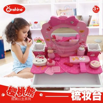 Harga Makeup vanity makeup girl play house simulation wooden toys children's educational toys gift for girls