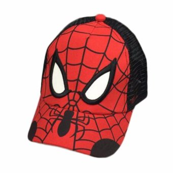Harga PTQ New spider-man net cap children hat boy baby spring and summer outdoor sunshade cap - intl