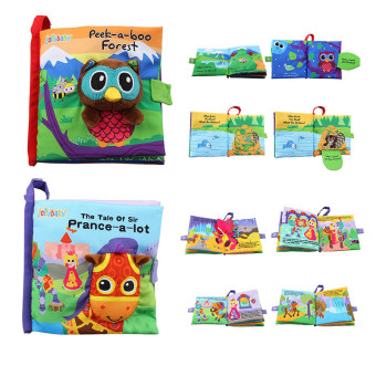 Harga EELIC 2PCS the tale of sir prance-a-lot and peek-a-boo forest baby ealy learning cloth book children stereo cloth book baby puzzle toy - intl
