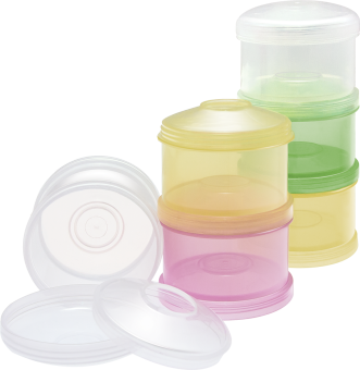 Harga NUK Milk Powder Container (White-Pink-Yellow)