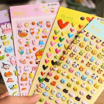 Harga DIY 3D Bubble Sponge Stickers Kawaii Cartoon Soft Animal Sticker for Kids Gift - intl