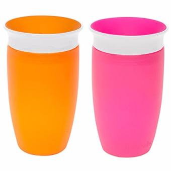Harga Munchkin Miracle 360 Sippy Cup, Pink/Orange, 10 Oz, 2 Pack