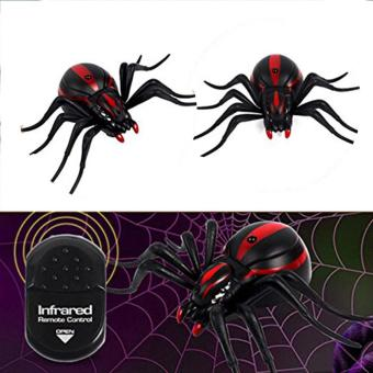 Harga Kids Creative Toys The Entire Toy Vivid Simulation Infrared Remote Control Black Spider - intl