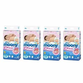 Harga Moony Airfit L(Tape) 54pcs * 4Packs