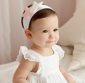 Harga Korean boutique baby hair accessories cute star wide cotton headband headdress hairpin children's hair band baby headband