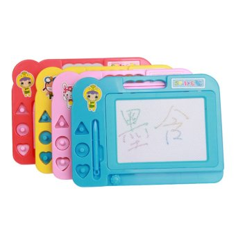 Harga 360WISH Doodle Sketch Learning Toy Erasable Colorful Plastic Magnetic Drawing Board (Color model) - Random Color