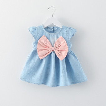 Harga Baby Girl Summer Fashion Dress (Pink) - intl