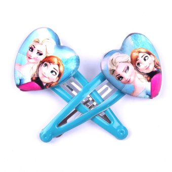Harga Frozen upscale peach heart hairpin bb folder children girls hair accessories hair tie plexiglas environmentally safe