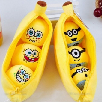 Harga 20cm Plush Banana Within Kawaii 3D Minions Cute Spongebob Lovely Emoji Expression Baby Toys#ML0216