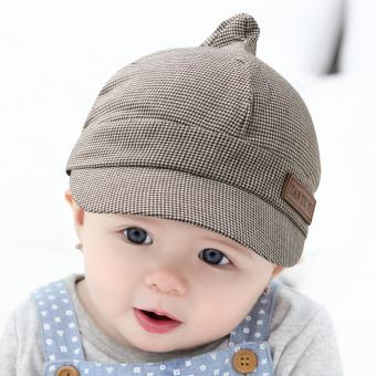 Cute Baby Kids Infant Boy Girl Striped Beret Caps Peaked Casquette Hats - intl