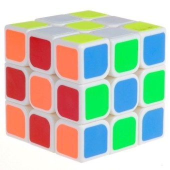 Harga Speed Cube 3x3 Magic Cube Puzzle White 56mm - intl