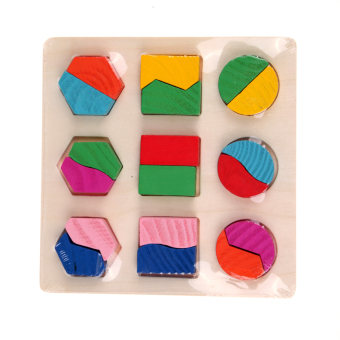 Harga Wooden fraction shape puzzle toy for Montessori early learning A63a