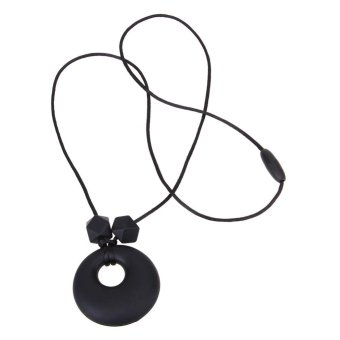 Harga DIY Necklace Kids Mom Soft Silicone Jewelry Decor Baby Teether (Black) - intl