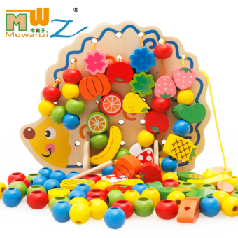 Harga Baby stringing beads around the bead infant tong yizhi force blocks for boys and girls aged 2-3-6 beads educational toys