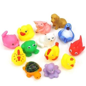 Harga Lemon 13Pcs Animals Baby &Amp; Toddler Bath Toy - intl