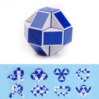 Creative Magic Snake Shape Toy Game 3D Cube Puzzle Twist Puzzle - intl