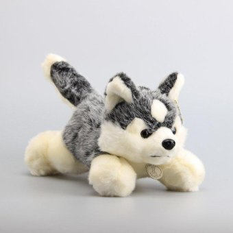 "Harga NEW Arrival Cute Husky Plush Toy Lying Husky Lovely Soft Stuffed Animals Kids Best Gift NWT 12"" 30 CM - intl"