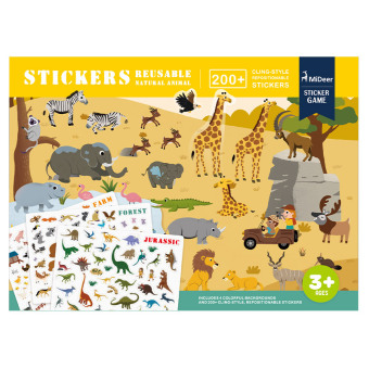 Mideer mi deer children's sticker book baby repeatedly stickers sticker children puzzle stickers 2-3-4-5 year old