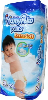 MamyPoko Diaper Pants Extra Soft Boys XL 24's X4PACKS (24 pieces/pack)