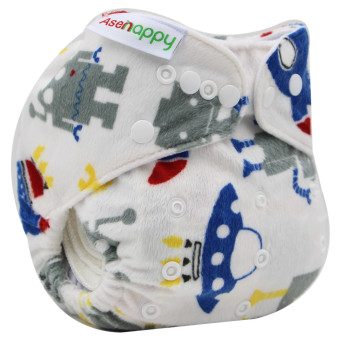 Asenappy Resuable Washable Minky Pocket Cloth Diapers Nappy With OneInsert