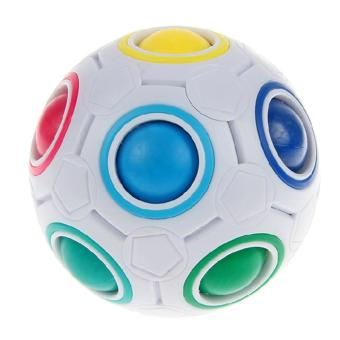 Harga Spherical Cube Rainbow Ball Football Magic Speed Puzzle Children's Educational Toys Cubes - intl