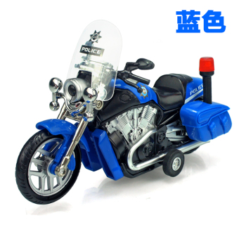 Harga Diya more children police car sound and light version of alloy pull back toy motorcycle model motorcycle model toy