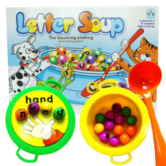 Harga 360WISH Plastic Letter Soup Matching Word Board Game Electronic Educational Toy Gift for Kids